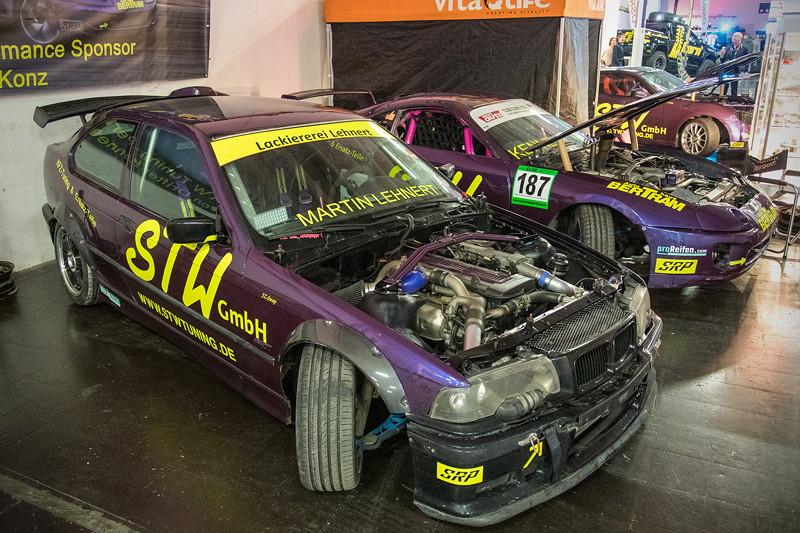 Essen Motor Show 2018: BMWs in der Boxengassen der Motorsportarena