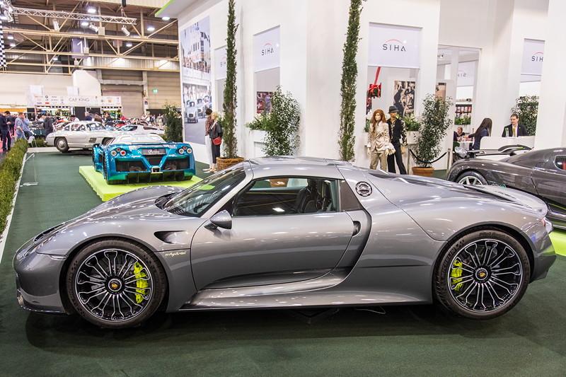 Porsche 918 Speyder auf der Essen Motor Show 2018, S.I.H.A. Sonderausstellung 'Supersportwagen' in Halle 1