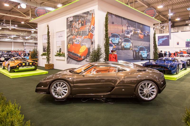 Spyker C12 Zagato auf der Essen Motor Show 2018, S.I.H.A. Sonderausstellung 'Supersportwagen' in Halle 1
