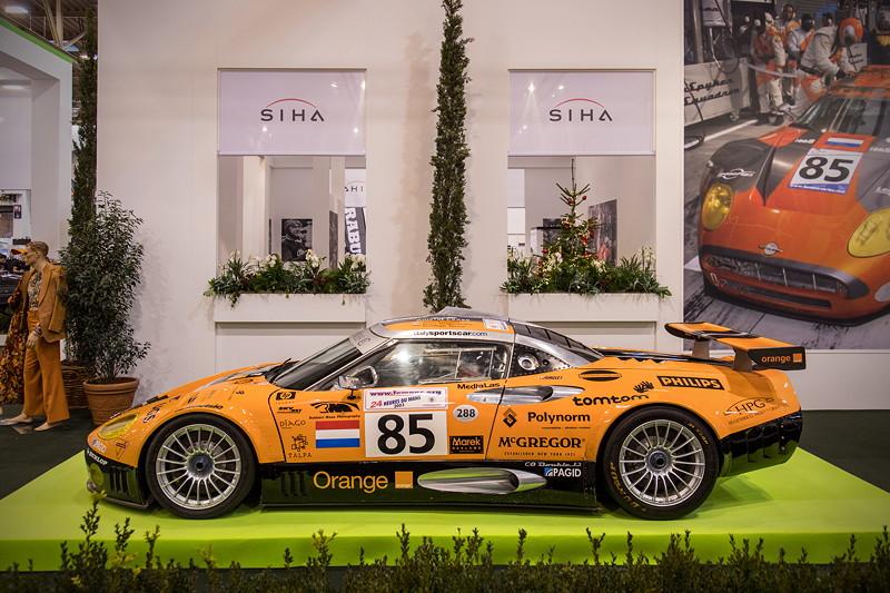 Spyker C8 GT2R auf der Essen Motor Show 2018, S.I.H.A. Sonderausstellung 'Supersportwagen' in Halle 1