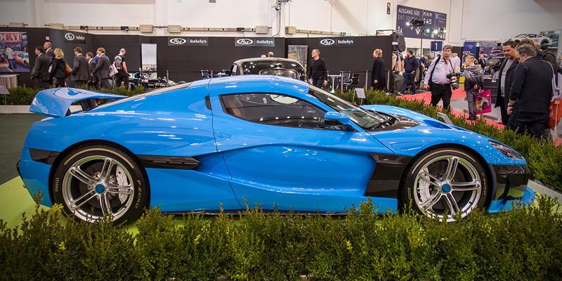 Rimac Concept 2 auf der Essen Motor Show 2018, S.I.H.A. Sonderausstellung 'Supersportwagen' in Halle 1