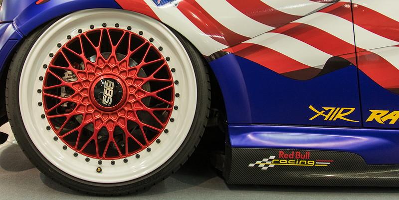 MINI Cooper Works GP (Modell R53), auf mehrteilige BBS 'Super-RS' Felgen in 8J x 18 Zoll