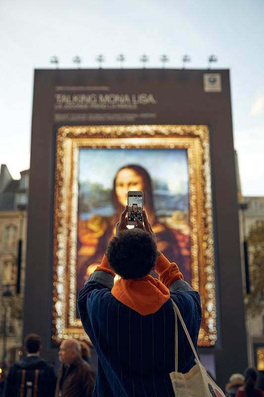 'Hey Mona Lisa...' auf dem Vorplatz des Centre Georges-Pompidou in Paris.