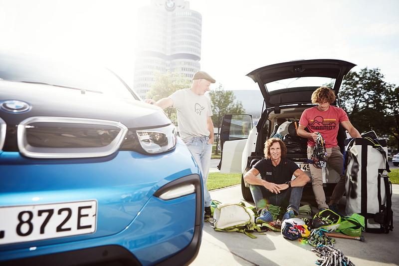 BMW i3 für die 'Küste zu Küste' Expedition von Extrembergsteiger und Abenteurer Stefan Glowacz