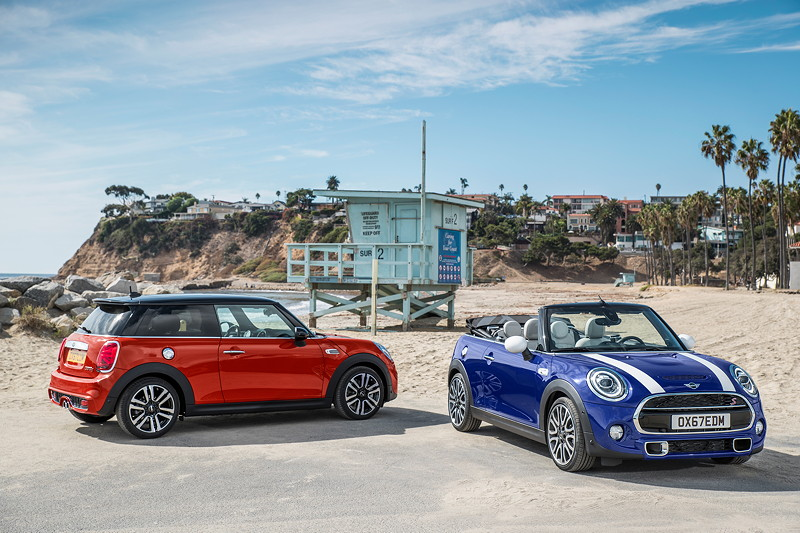 MINI Cooper Hatch und MINI Cooper S Cabrio (Facelift 2018).