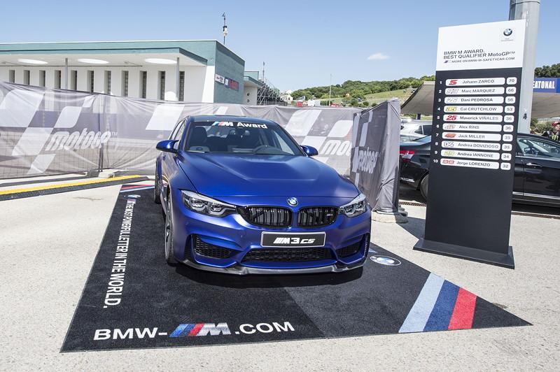 Jerez de la Frontera (ESP). MotoGPTM – BMW M Award 2018. Präsentation Siegerfahrzeug BMW M3 CS.