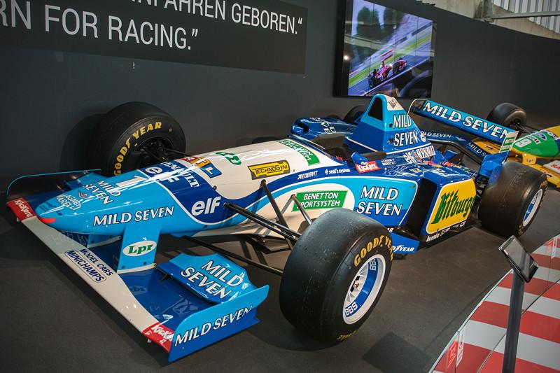 MotorWorld Köln-Rheinland, Michael Schumacher Private Collection: Benetton B195-04. 1995 gewinnen Schumacher und Benetton den F1 Fahrer- und Konstrukteurstitel.