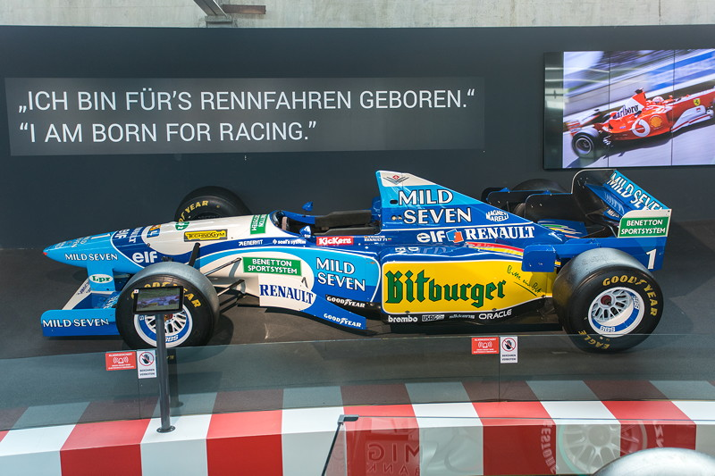 MotorWorld Köln-Rheinland, Michael Schumacher Private Collection: Benetton B195-04. Highlight der Saison 1995: Schumaher siegt vom 16. Startplatz aus in Spa.