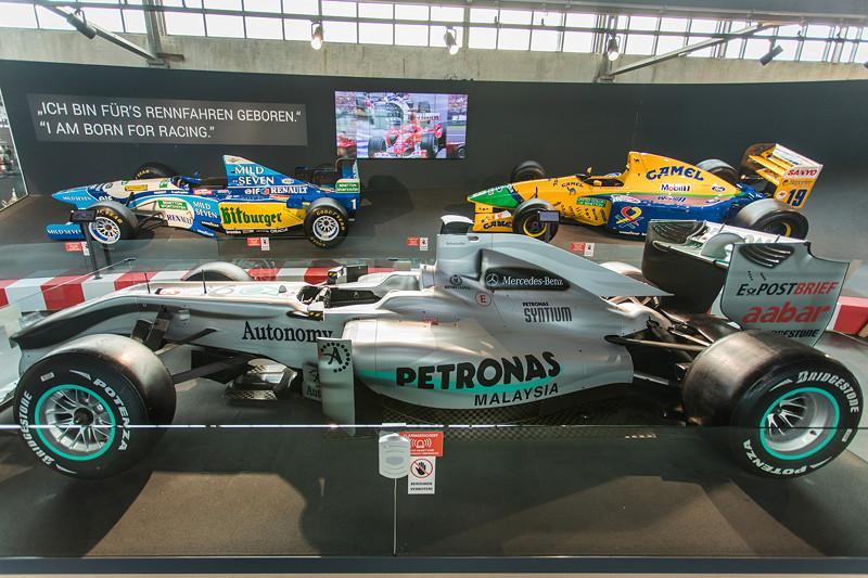 MotorWorld Köln-Rheinland, Michael Schumacher Private Collection: Mercedes MGP W01. Im Jahr 2009 fährt Schumacher nach seinem Comeback für das neu gegründete Mercedes-Team.