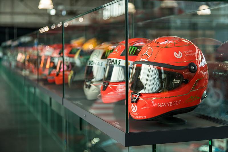 MotorWorld Köln-Rheinland: Helme von Michael Schumacher