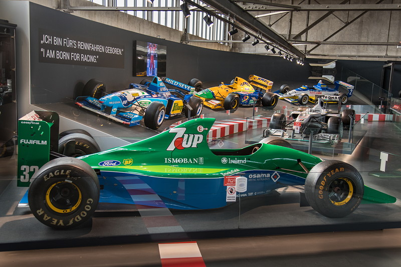 Michael Schumacher Private Collection, mit 'Schumis' erstem F1-Auto, dem Jordan 191.