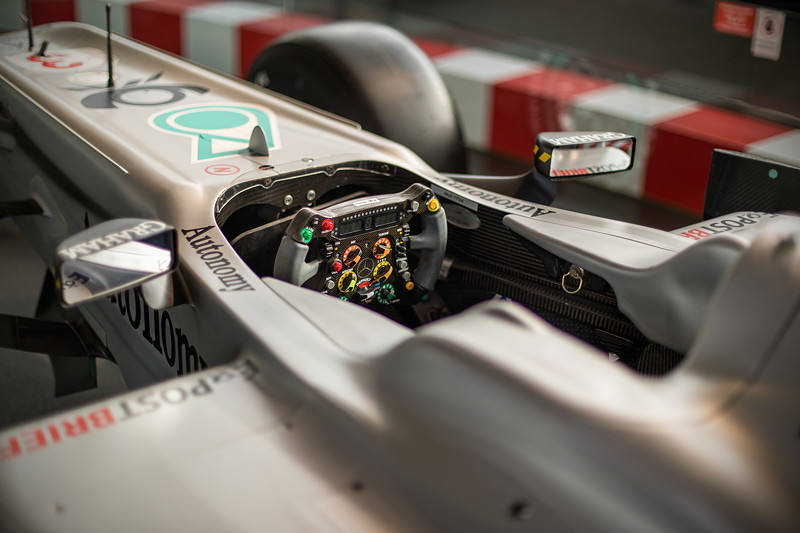 MotorWorld Köln-Rheinland, Michael Schumacher Private Collection: Mercedes MGP W01. Cockpit.