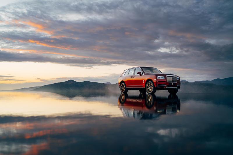 Rolls-Royce Cullinan in Magma rot