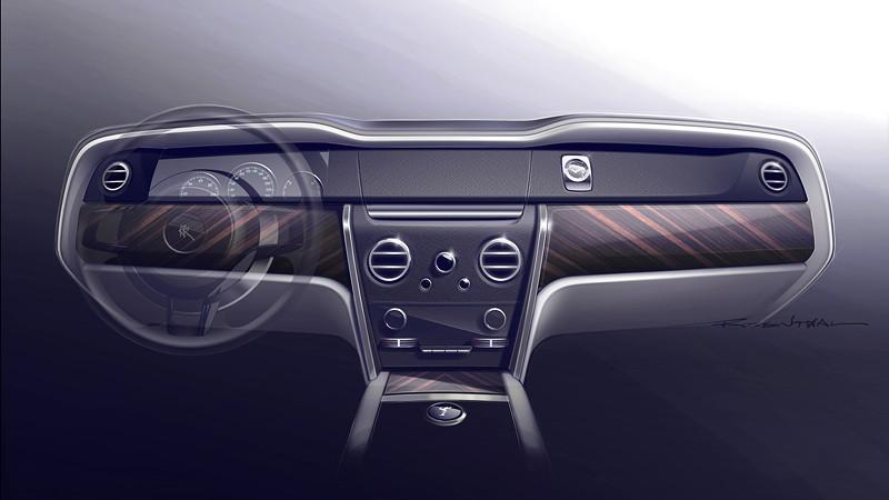 Rolls-Royce Cullinan, Designzeichnung