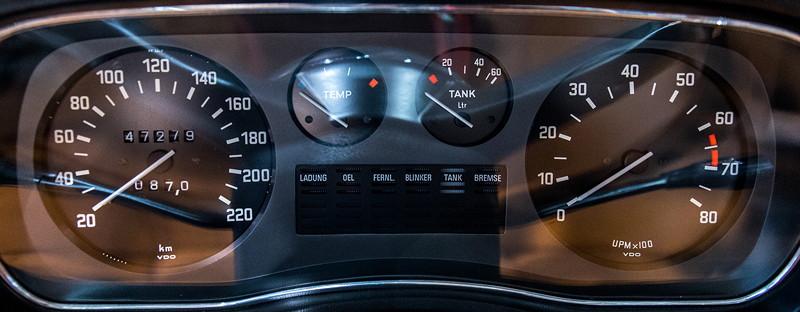 BMW 2800 (E3), Tacho-Instrumente