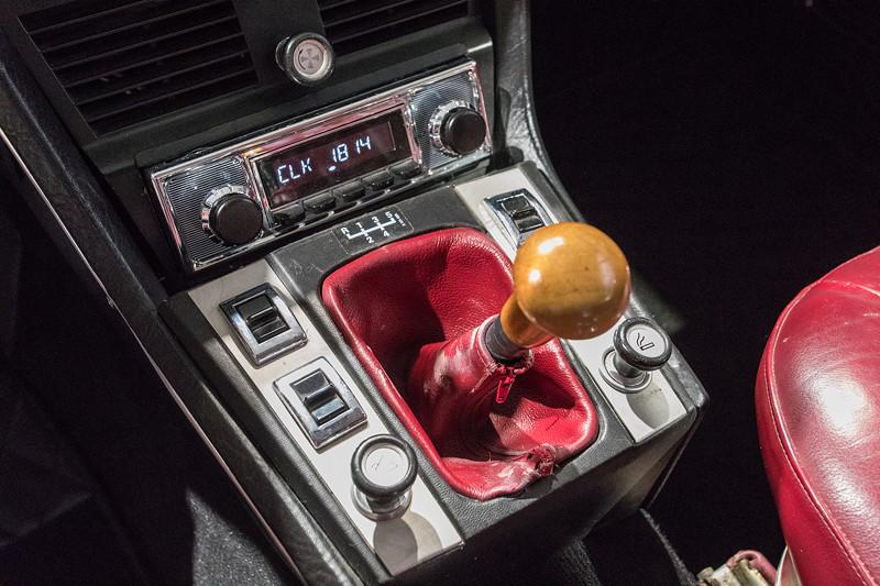 BMW 3.0 CSi (E9), Schaltkulisse des 4-Gang-Getriebes.