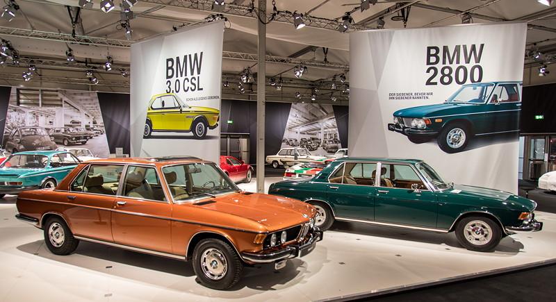 50 Jahre BMW E3 auf der Techno Cassica 2018 mit dem BMW 3.0 L von Stephan Pürzer (rechts) und dem BMW 2800 von Rheinhard Queckenberg