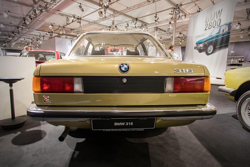 BMW 316, Heckansicht