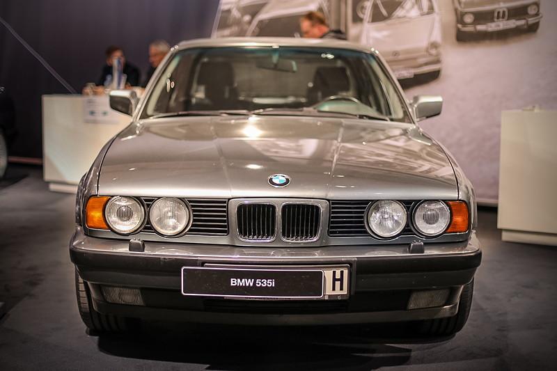 BMW 535i (E34) von Steffen Walther, ausgestellt von der BMW 5er E34 IG auf der Techo Classica 2018.