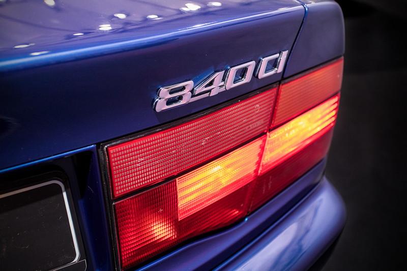 BMW 840Ci (E31), Typ-Bezeichnung auf der Heckklappe
