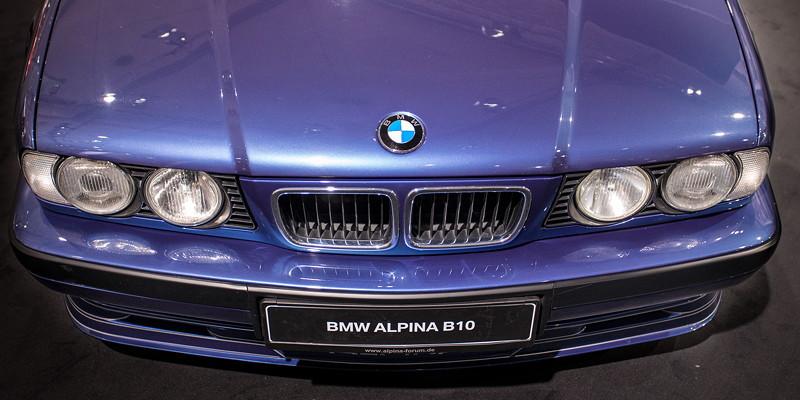 BMW Alpina B10 4,0 (E34) von Rainer Witt, ausgestellt von der Alpina Gemeinschaft auf der Techno Classica 2018.
