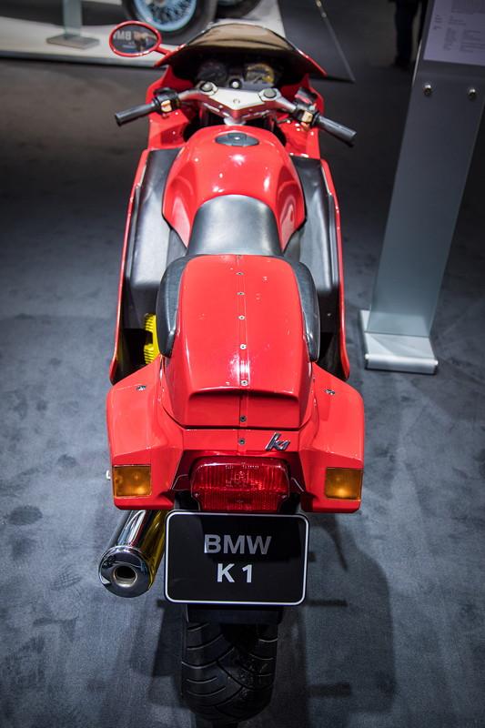 BMW K1, Prototyp, mit im Windkanal optimierten Design, erstmals gezeigt auf der IFMA 1988.