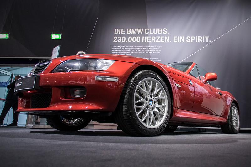 BMW Z3 roadster 3.0i von Dieter Fraune, ausgestellt auf dem BMW Group Classic Messestand auf der Techno Classica 2018.