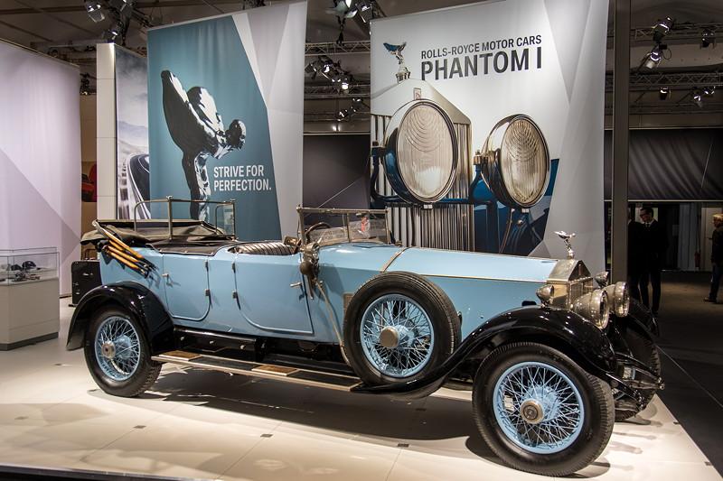 Rolls-Royce Phantom I Open Tourer Windovers, ausgestellt von BMW Group Classic auf der Techno Classica 2018.