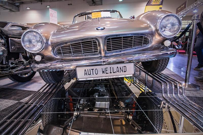 BMW 507 in silber, Baujahr: 1957, 70.083 km, nur 254x gebaut