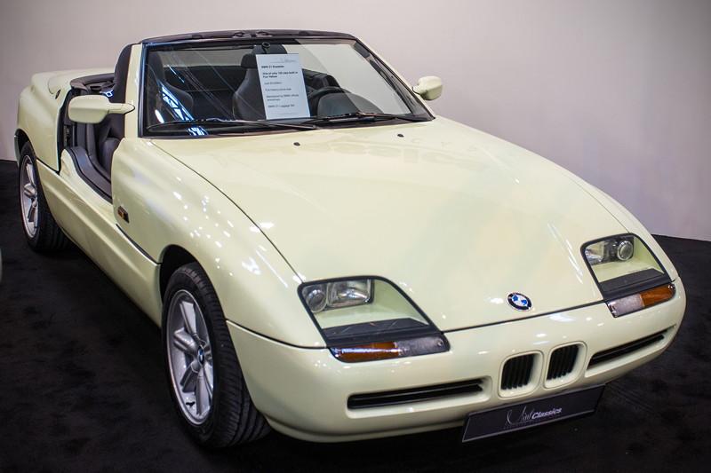 BMW Z1 roadster in fungelb, nur 135 Z1 von insgesamt 8.000 wurden in dieser Farbe ausgeliefert