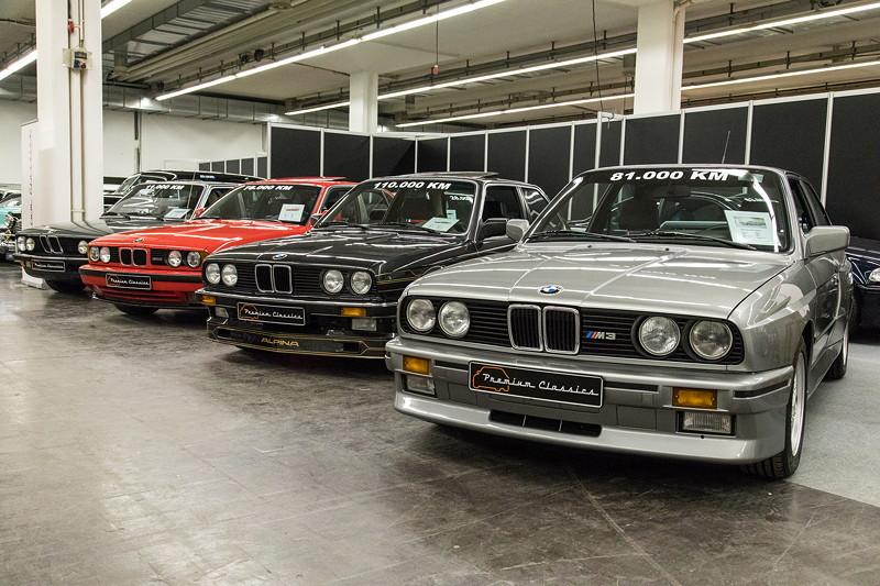 BMW M3 (E30), BMW Alpina B6 2.8 (E30), BMW M5 (E34) und BMW 528i (E28)