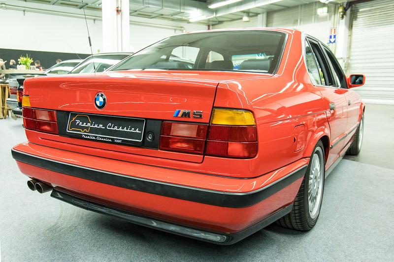 BMW M5 3.6 (E34), in Misanorot, sehr rar in dieser Farbe und Zustand