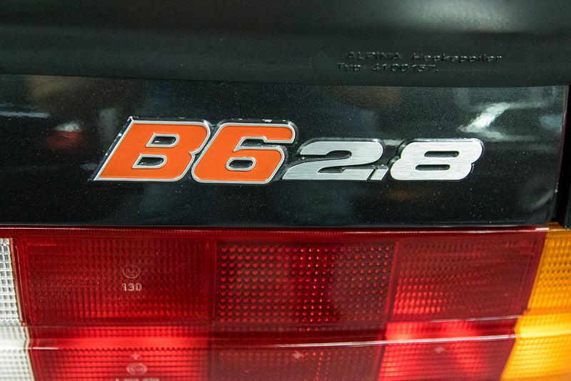 BMW Alpina B6 2.8 (E30), Typ-Bezeichnung auf der Heckklappe