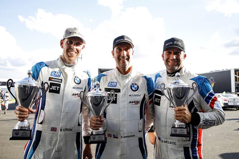 Bathurst (AUS), 03.02.2019, 12 Std.-Rennen, Second place GT4 class: Daren Eric Jorgensen (USA), Brett Strom (USA), Gerard McLeod (AUS), BMW M4 GT4 #13, RHC-Jorgensen/Strom by MarcGT.