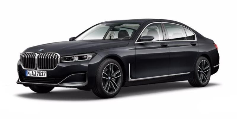 BMW 750Li (G12 LCI) in Artikgrau Brillanteffekt auf 19 Zoll LMR Doppelspeiche 630 Bicolor