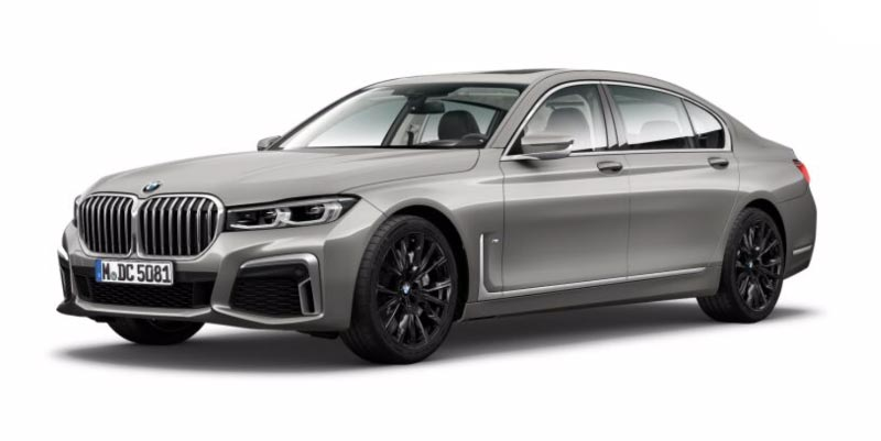 BMW 750Li (G12 LCI) in Donington grau metallic auf 20 Zoll M LMR Sternspeiche 817 M Bicolor
