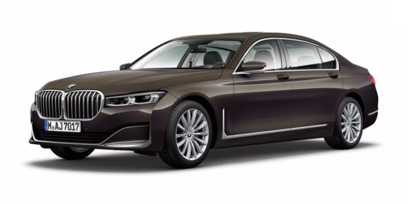 BMW 750Li (G12 LCI) in Dravitgrau metallic auf 20 Zoll LMR V-Speiche 628 Bicolor