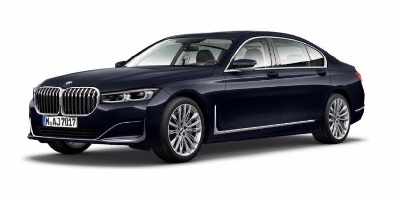 BMW 750Li (G12 LCI) in Imperialblau Brillanteffekt metallic auf 20 Zoll LMR W-Speiche 646 hochglanz