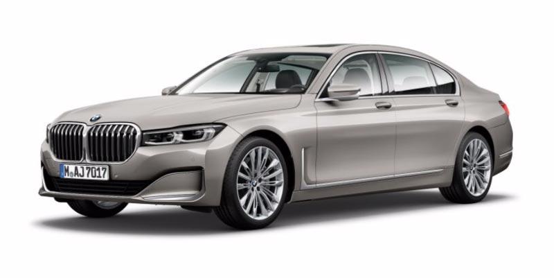 BMW 750Li (G12 LCI) in Kaschmirsilber metallic auf 20 Zoll LMR W-Speiche 646 hochglanz poliert