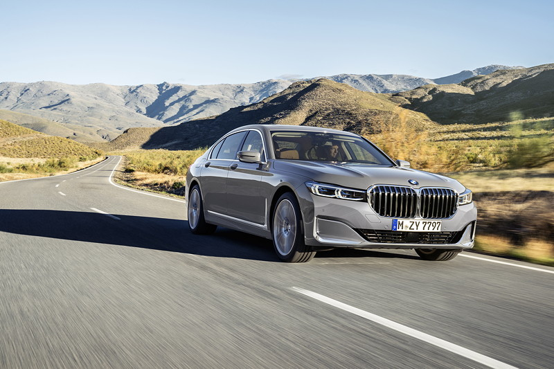 BMW 750Li xDrive (G12 LCI) in Berninagrau Bernsteineffekt