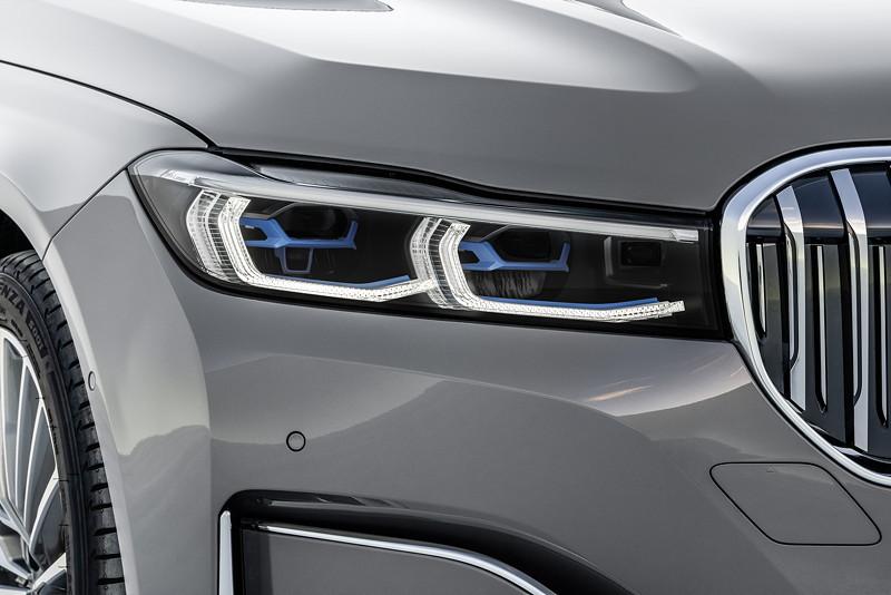 BMW 750Li xDrive (G12 LCI), flachere Scheinwerfer, hier mit optionalem Laserlicht