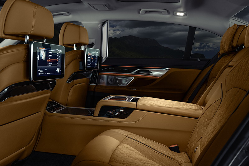 BMW 750Li xDrive (G12 LCI), Fond mit Executive Lounge