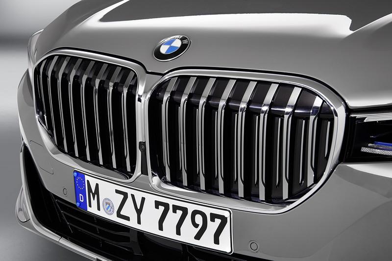 BMW 750Li xDrive (G12 LCI), neue, um 40 Prozent vergrösserte einteilige Niere