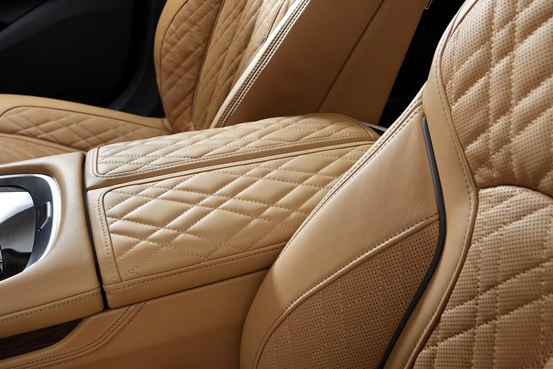 BMW 750Li xDrive (G12 LCI), neues Leder mit erweiterter Steppung