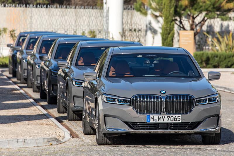 BMW 750Li xDrive (G12 LCI), int. Presse Vorstellung in Portugal Ende März 2019