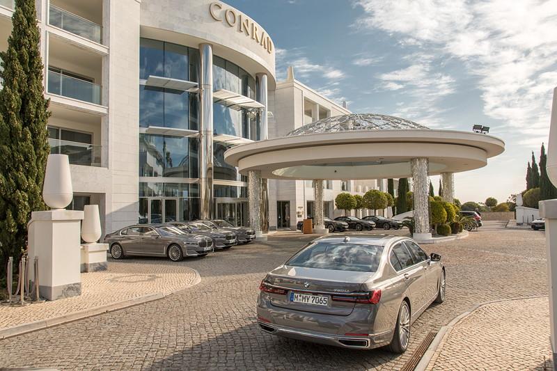 BMW 750Li xDrive (G12 LCI), int. Presse Vorstellung in Portugal, Testwagenflotte
