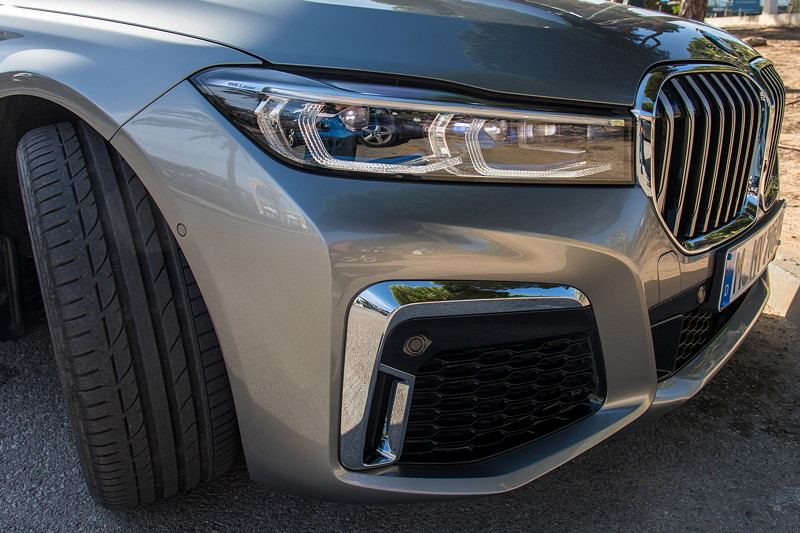 BMW 745Le xDrive (G12 LCI), mit neuen, flacheren Scheinwerfern mit Laserlicht