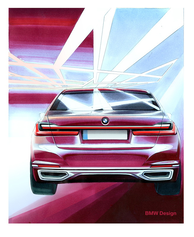 BMW 7er (G11/G12 Facelift 2019), Designskizze