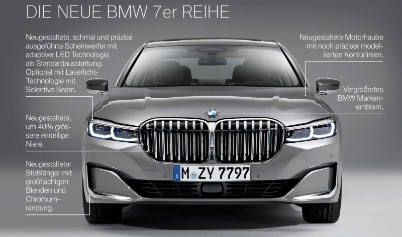 Die neue BMW 7er-Reihe (G11/G12 Facelift 2019), Highlights.