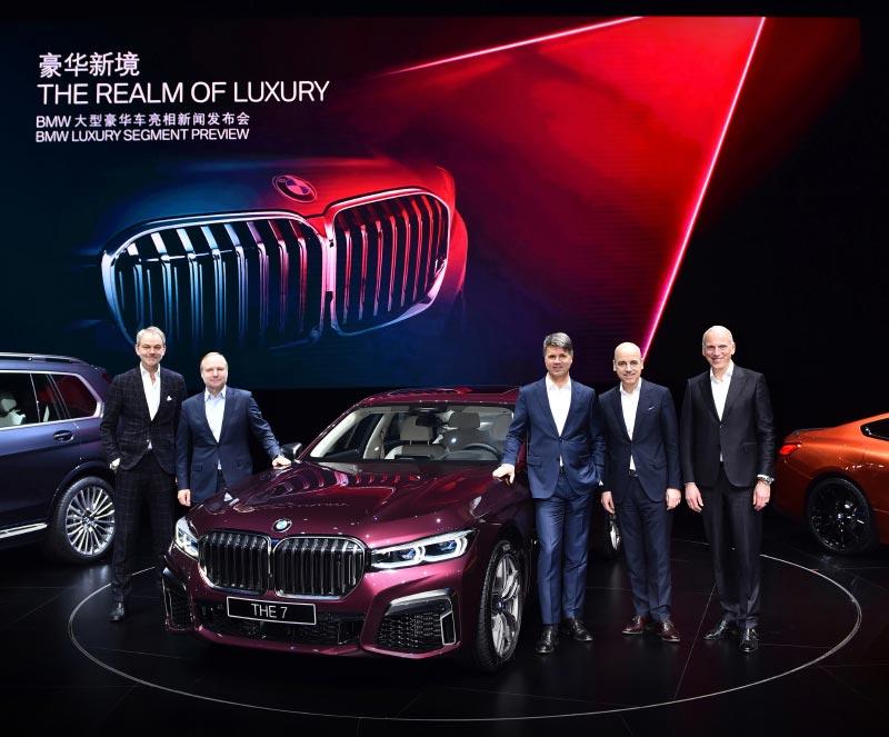 Weltpremiere der neuen BMW 7er Reihe am 16.01.2019 in Shanghai/China.